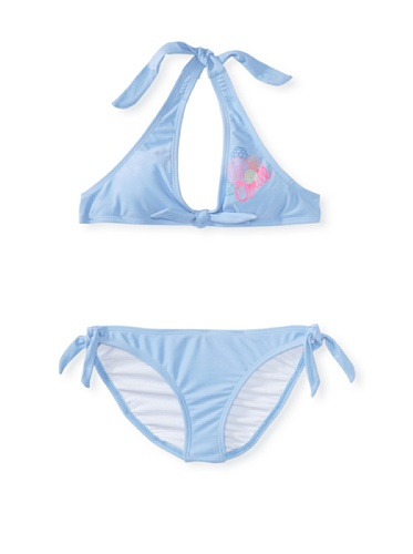 O'Neill Girl's 7-16 Solid Halter Two-Piece Swimsuit (Periwinkle)