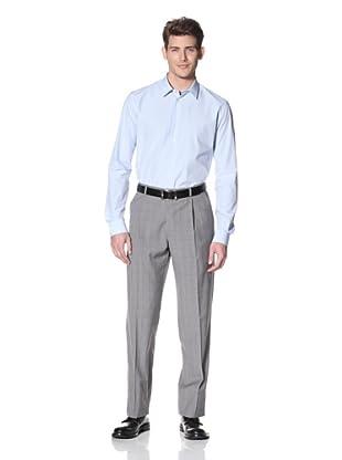 Hart Schaffner Marx Men's Single Reverse Pleat Trouser (Grey)