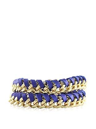 Ettika Purple & 18K Gold-Plated Nautical Boom Wrap Bracelet