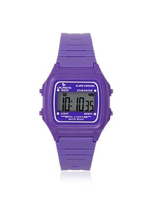 Laurens L116J915Y Purple Rubber Digital Multifunction Watch