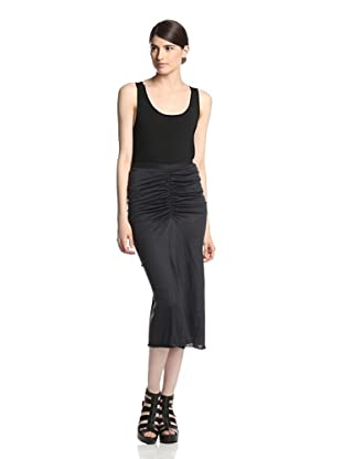 Rick Owens Lilies Women's Ruched Skirt (Anthracite)