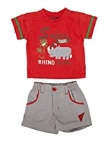 Chocolate Baby T_Shirt and Short(1120_Red_6M)