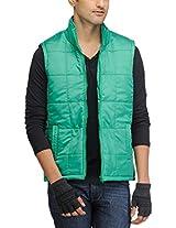 Yepme Men's Polyester Jacket (YPMJACKT0026_Green_X-Large)