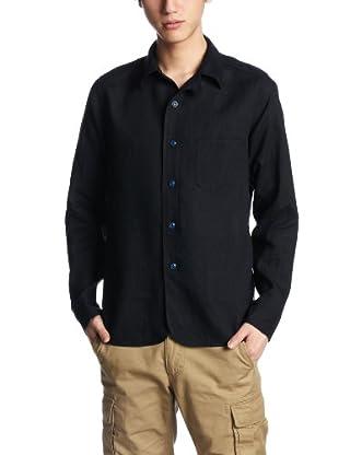Linen Color Shirt SN-13S-017: Navy