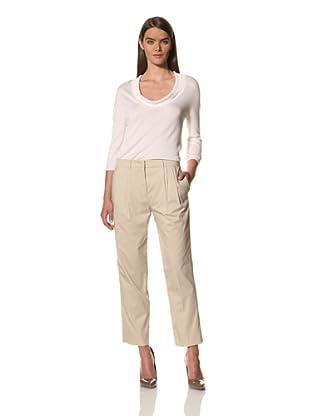 JIL SANDER Women's Cotton Twill Pant