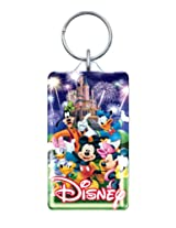 Disney Mickey and Gang Fireworks Lucite Key Ring