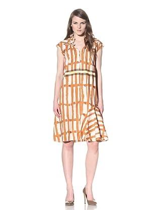 MARNI Women's Printed Dress (Amber Natural)