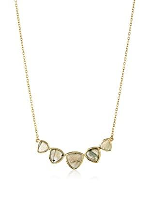 Argento Vivo Labradorite Triangle Frontal Necklace