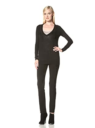 C'N'C Costume National Women's Sweater with Chain Detail (Black)