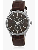 5129102 Brown/Brown Analog Watch Ted Lapidus