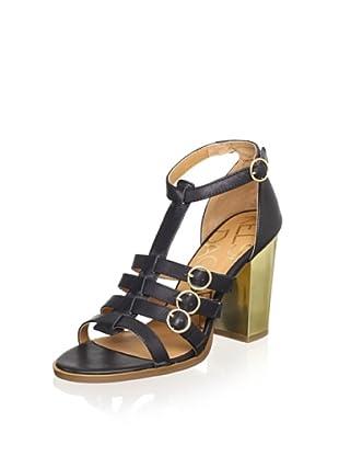 Kelsi Dagger Women's Greta T-Strap Sandal (Black)