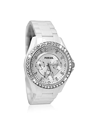 Fossil Women's ES3252 Riley White Multifunction Resin Watch