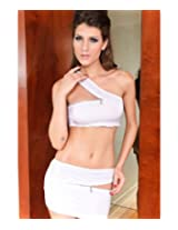 White All Zipped Up Two Piece Set (BKCHB008)