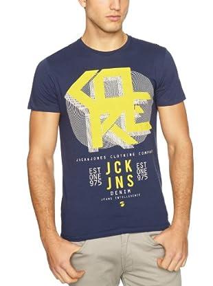 JACK & JONES Camiseta Fletch S/S (Azul Marino)