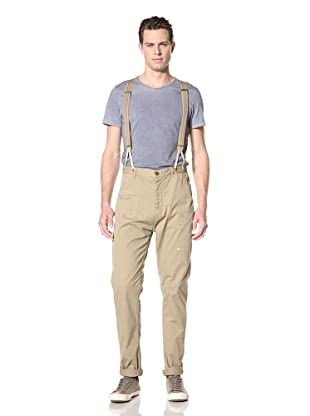 Scotch & Soda Men's Morrison Antifit Pants with Suspenders (Dune)