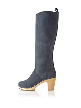 Swedish Hasbeens Women's Knee-High Jodhpur (Blue)