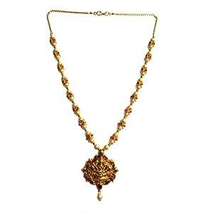 Bhagvathi Fashion Jewellery Temple Collection Lakshmi Pendent Set