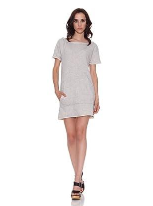 The Hip Tee Vestido V Dress (Gris Mezcla)