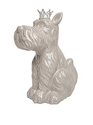 Interior Illusions Scottie Dog with Crown Bank, Grey