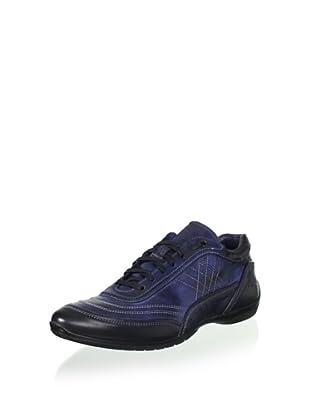 Bacco Bucci Men's Vinci Sport Shoe with Stitch Detail (Blue)