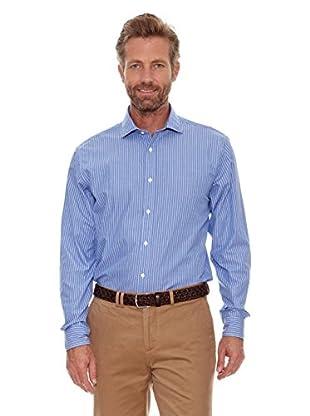 Cortefiel Camisa Fil a Fil (Azul)
