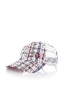 Ben Sherman Men's Check Baseball Cap (Red)