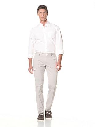Incotex Men's Flat Front Cargo Pant (Beige)