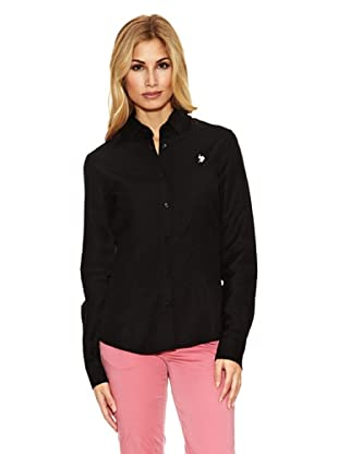 US Polo Assn Camisa Básica Logo (Negro)