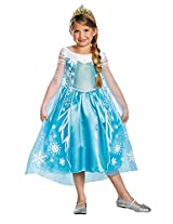 Elsa Frozen Disney Girls Costume deluxe
