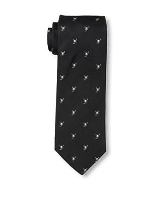Rossovivo Men's Scorpion Tie, Black