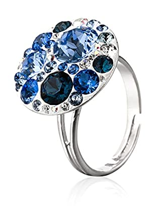 SWAROVSKI ELEMENTS Anillo Small Crystals Azul