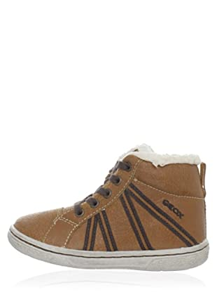 Geox Flick B2437C000Mqc6017 - Zapatitos de niños sin cordones (Marrón)