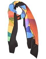 The Knit Factory Women's Acrylic Woolen Stole (1021c_Multi-Colour)