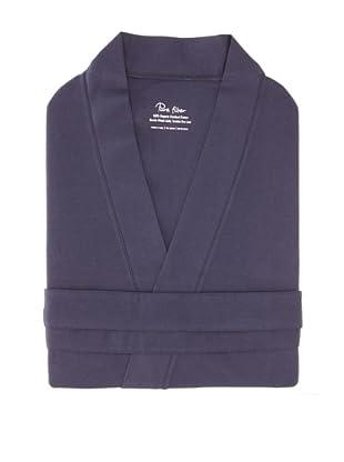Pure Fiber Organic Knit Bathrobe (Navy)