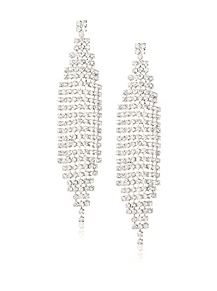 Chloe by Liv Oliver Silver Crystal Chandelier Crystal Earrings