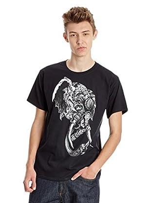 DEPHECT Camiseta Manga Corta Elephant