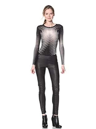 Gareth Pugh Women's Leather and Knit Legging (Black)