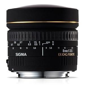 Sigma 8mm F3.5 EX DG Circular Fisheye Lens for Nikon DSLR Camera