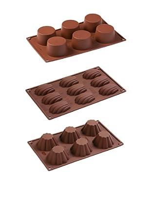 Pavoni Set 3 Moldes Para Muffin, Brioches y Madalenas
