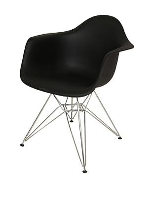 Stilnovo Mid-Century Eiffel Dining Arm Chair, Black