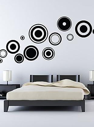 Ambiance Live Wandtattoo Black design circles schwarz