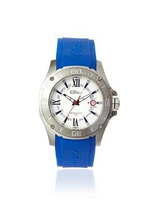 Elini Barokas Men's 10196-023S-BL Artisan Blue/Silver Silicone Watch