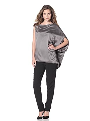 KaufmanFranco Women's Asymmetric Batwing Top (Gull)