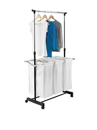 Honey-Can-Do Adjustable Height Laundry Center, Chrome/Black/White