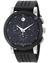 "Movado Men's 0606545 ""Museum"" Perforated Black-Rubber Strap Sport Watch"