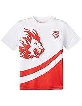 Kings XI Punjab Crew Neck-Kids, 10-11 Years (White/Red)