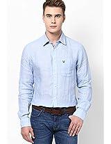 Light Blue Full Sleeves Casual Shirt Allen Solly