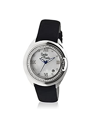 Sophie and Freda Women's SF1001 Belize Black/White/Silver Leather Watch
