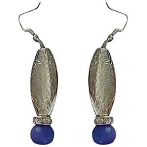 The Desi Soul German Silver with Royal Blue Agates