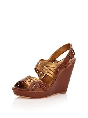 Cynthia Vincent Women's Jaden Wedge Sandal (Gold)